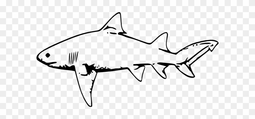 Tiger Shark Clip Art Free Clipart Images - Shark Black And White #11808