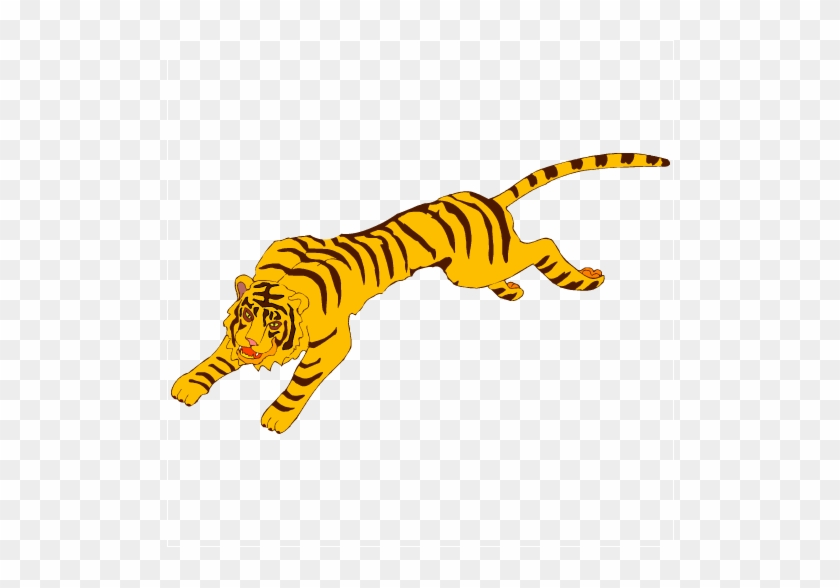 Running Tiger Clipart - Clip Art Tiger Running #11809
