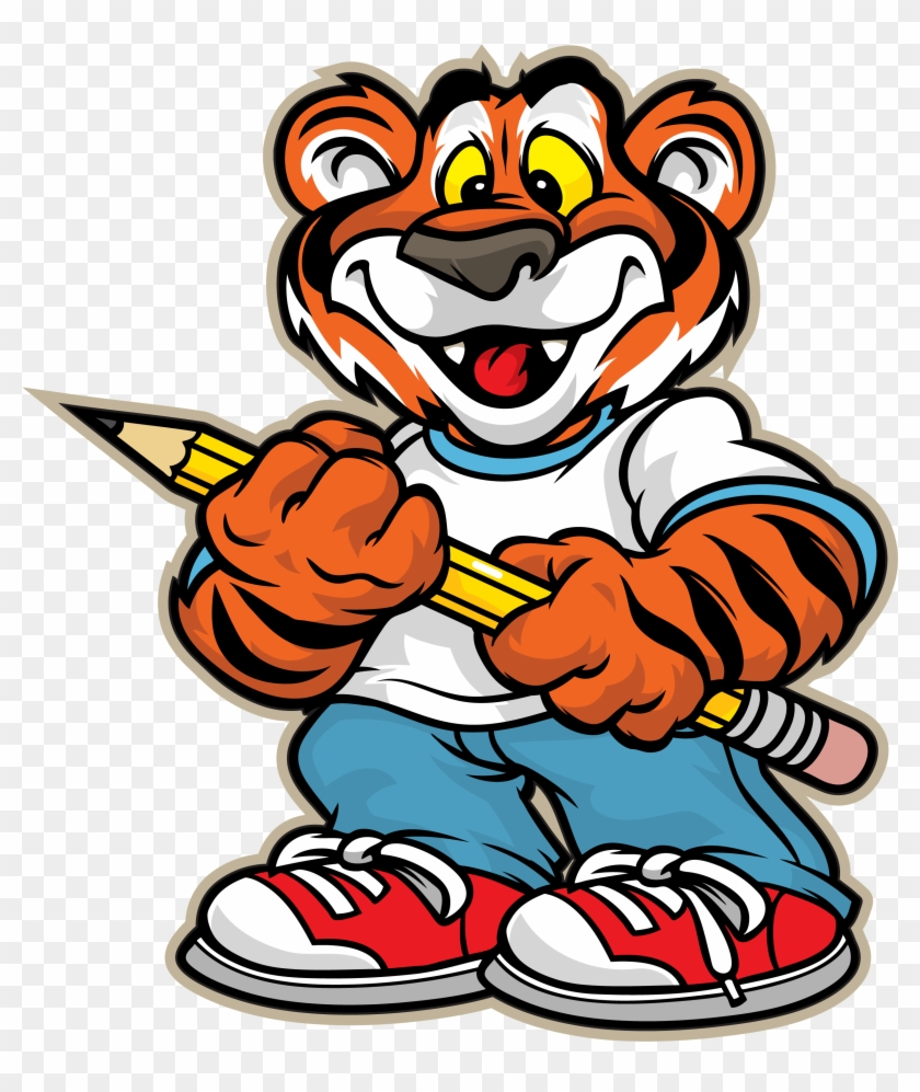 Bessemer City Middle School Tiger Clipart - Tiger At School Clip Art #11831