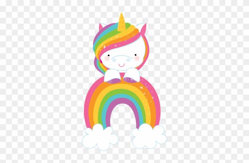 Rainbow Unicorn 2-03 - Unicorn And Rainbow Clipart #11834
