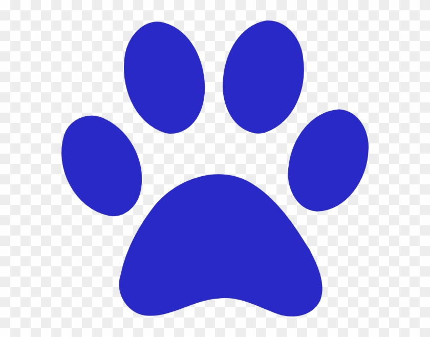 Tiger Clipart Tiger Paw - Logo With Blue Paw Print #11845