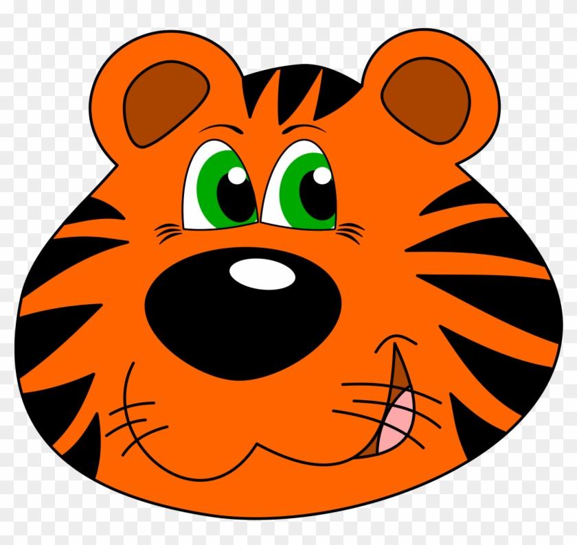 Tiger Clipart Carton - Tiger Face Clipart #11861
