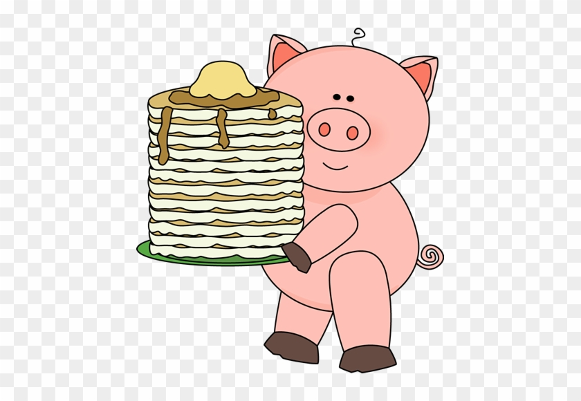 Pig With Pancakes - If You Give A Pig A Pancake Clipart #11877