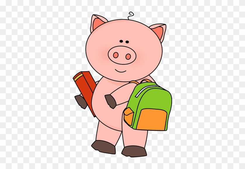 Pig Going To School - Pig Going To School #11886