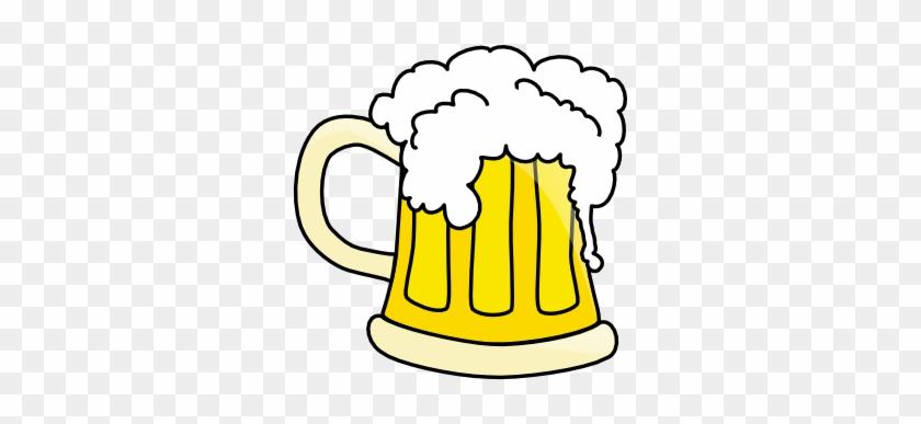 Free Beer Mug With Overflowing Beer Clip Art - Beer Mug Vector File #11903