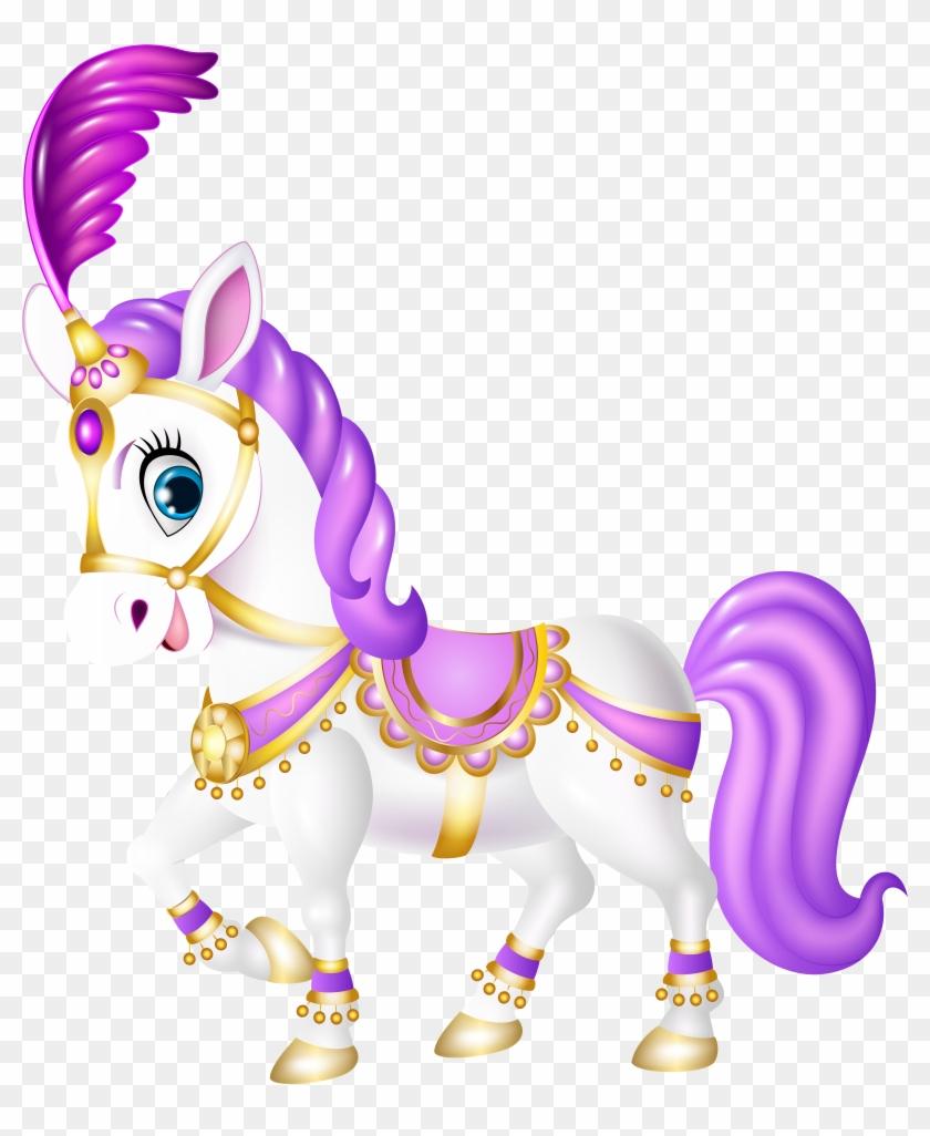 Cute Purple Pony Cartoon Transparent Png Clip Art - Cartoon Clipart Transparent #11920
