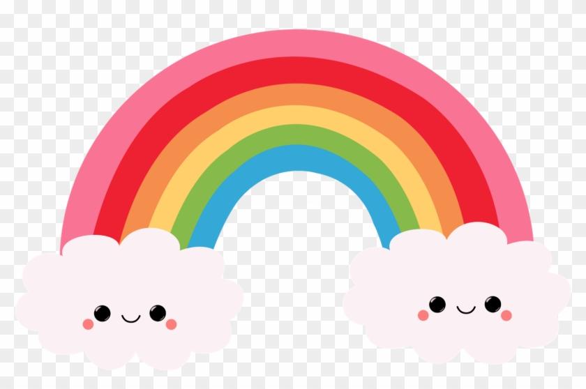 Animation Rainbow Drawing Clip Art - Kawaii Rainbow #11932