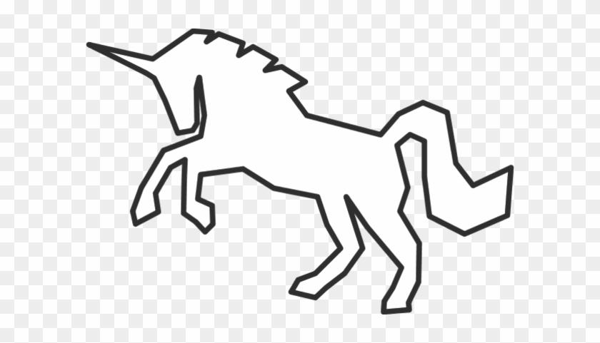 Vector Clip Art - Unicorn White Silhouette Png #11958