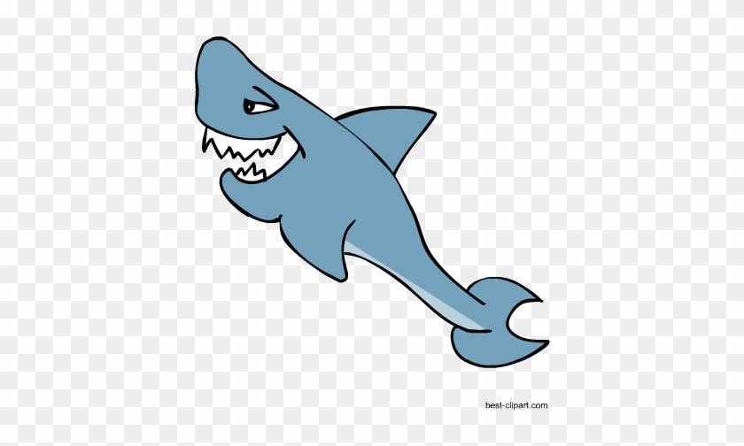 Free Cute Cartoon Shark Clip Art Image - Cartoon #11980