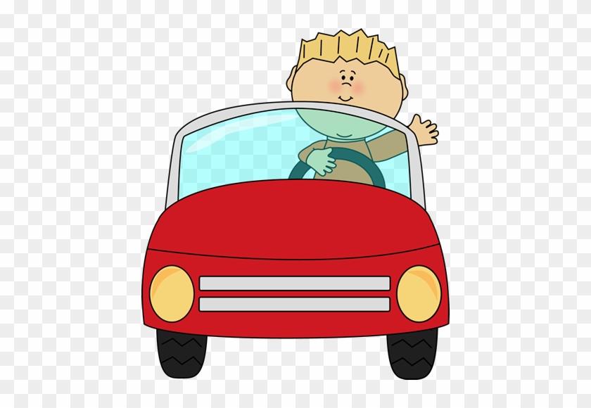 Boy Driving A Car - Driving Clipart #11994