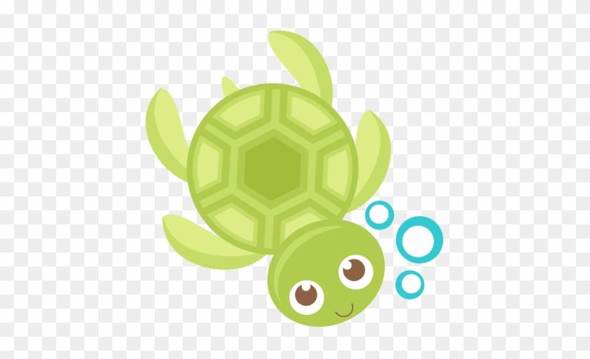 Cute Turtle Transparent Png Image - Cute Sea Turtle Clipart #12004