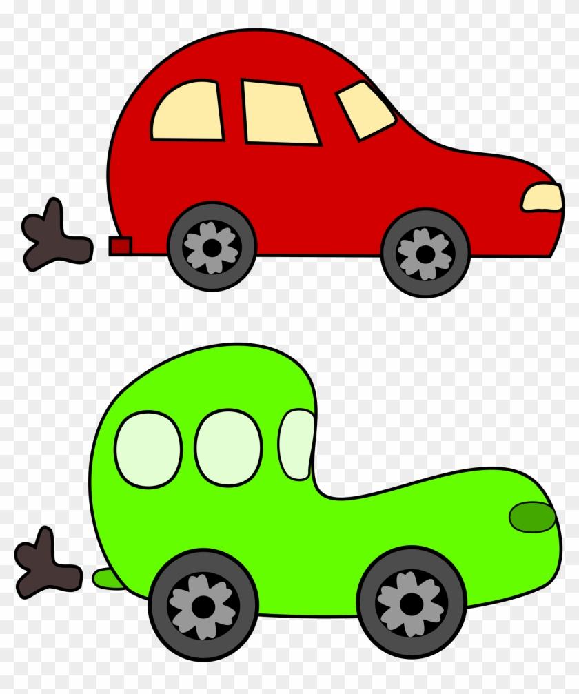 Car Cartoon Clip Art Clipart Green And Red Cars - Car Cartoon Clip Art Clipart Green And Red Cars #12071