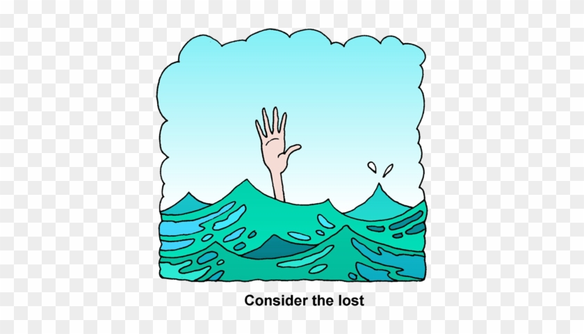 Person Drowning Clipart - Clip Art Drowning #12070