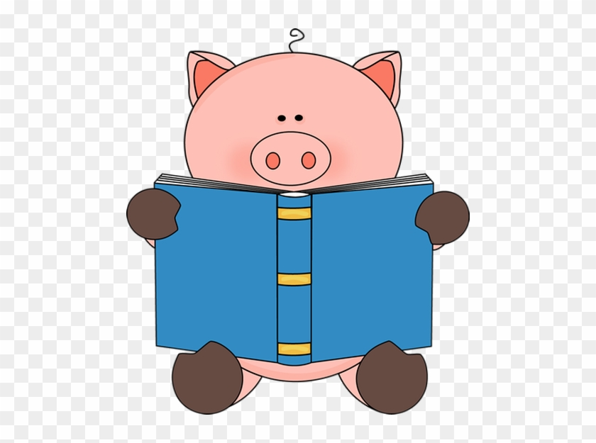 Pig Reading A Book - Pig Reading A Book #12083