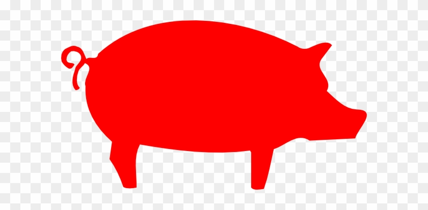 Pig Outline Clipart #12094