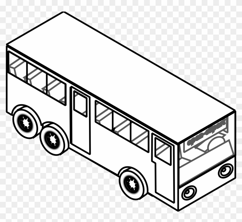 Car Black Black And White Car Drawings Free Download - Bus Black And White #12104