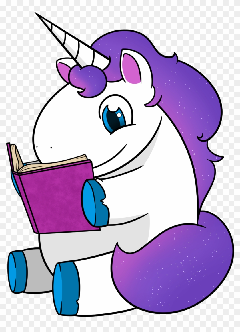Books Magic Reading Writing Editing Reviewing Wordicorn - Unicorn Reading A Book #12103