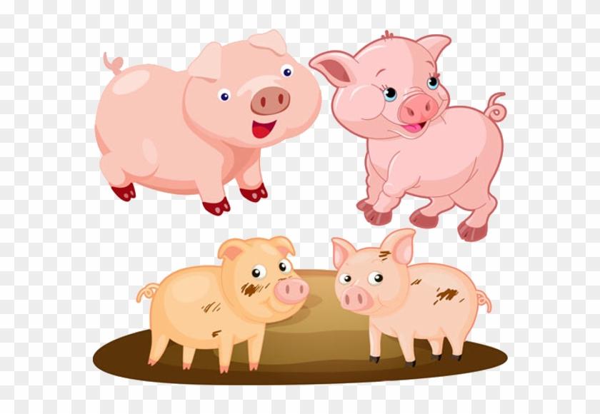 Funny Pink Cartoon Pigs Clip Art Images - Clip Art #12128
