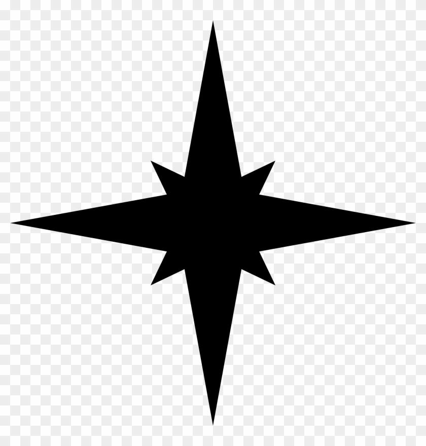 Compass Clipart 1pass Clip Art Free Vector Clipartwiz - 4 Point Star Vector #12133