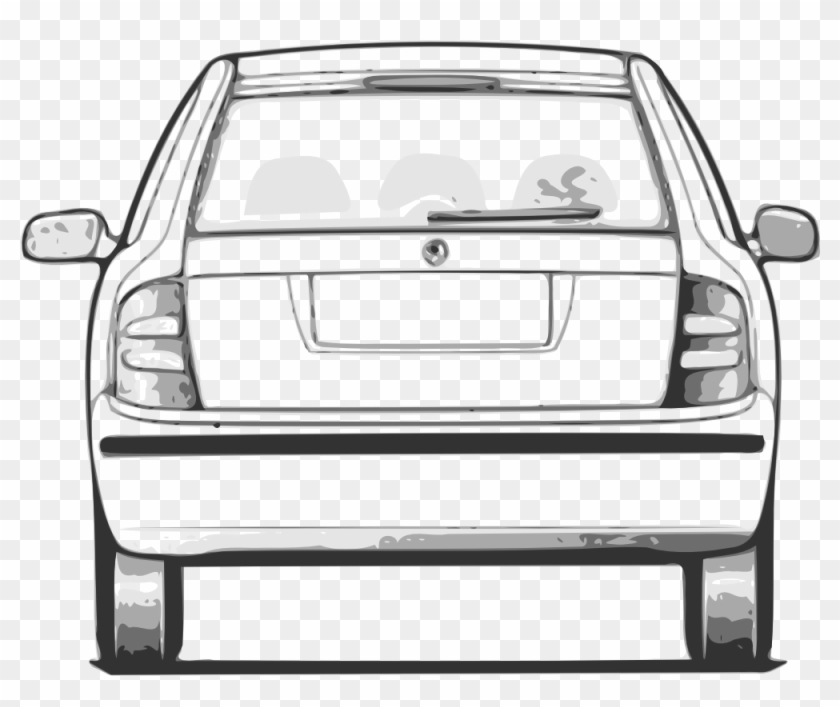 Fabia Car Back View Clip Art - Car Back View Clipart #12141