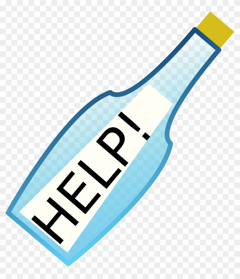 Help@ucd - Clipart Message In A Bottle #12146