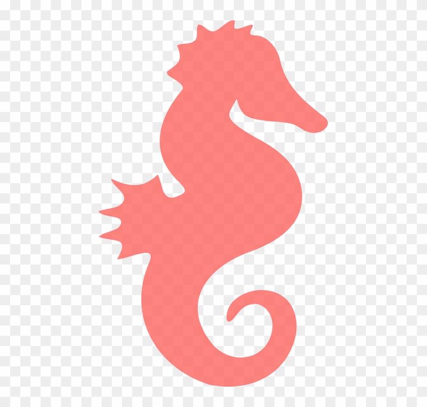 Coral Seahorse Clip Art At Clker - Sea Horse Clipart #12170