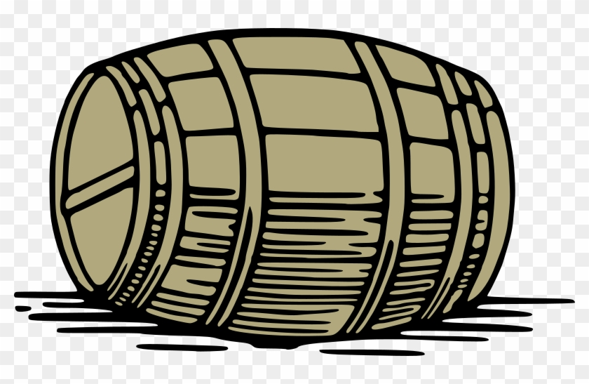 Barrel Wooden Keg Cask Wine Whiskey Beer A - Wine Barrel Clip Art #12176