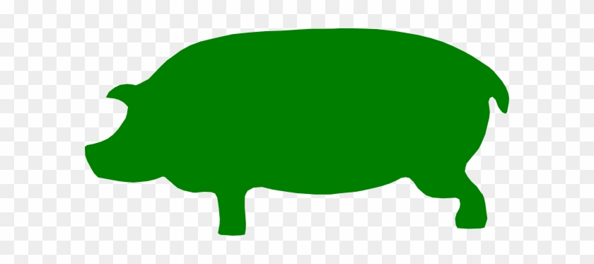 Green Pig Clip Art - Pig Green #12174