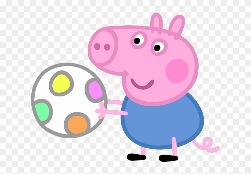 Hermanito De Peppa Pig - Peppa Pig George Clipart #12183