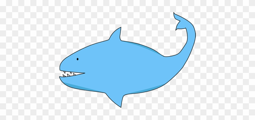 Blue Shark - Fat Shark Clip Art #12210