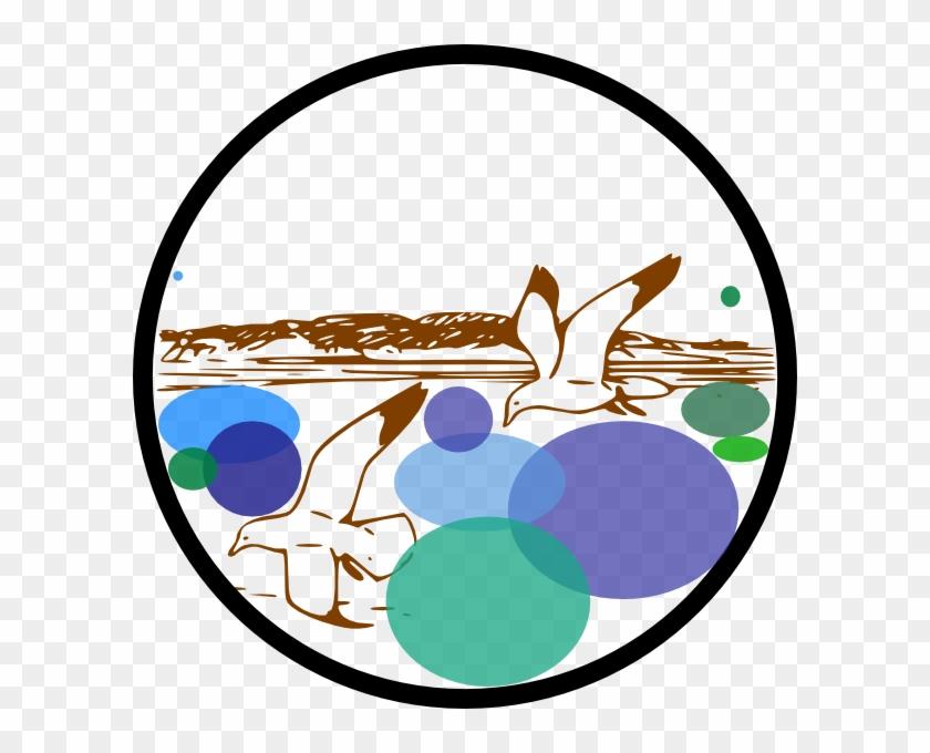 Waterfront Clip Art - Seemöwe-strand-ostküstebeachcomberspiegel Taschenspiegel #12220