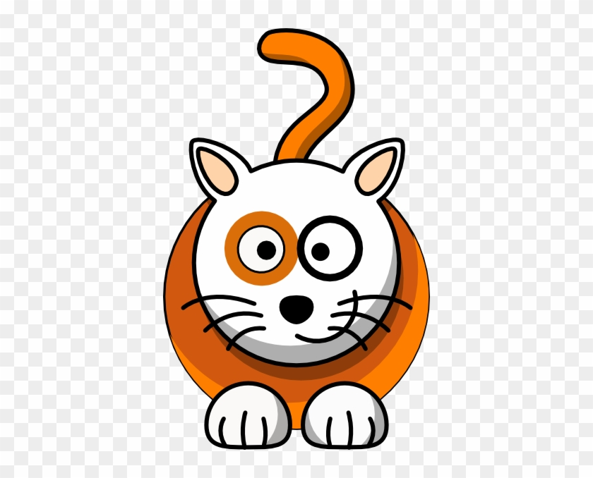 Clker Clipart Cat Clip Art At Clker Vector Clip Art - Black And White Cartoon Cats #12225
