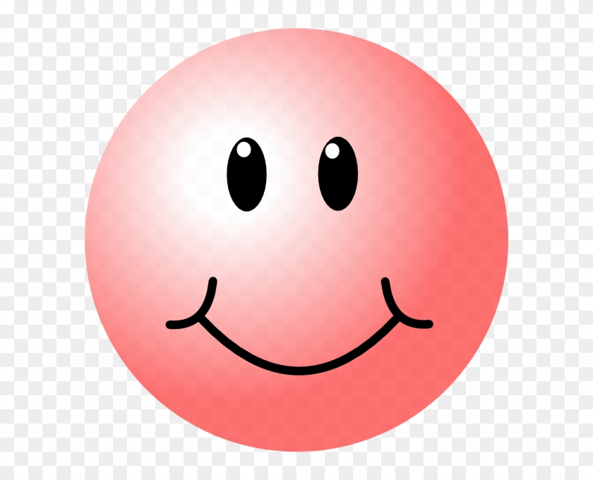 Pink Smiley Face Clip Art - Happy Pink Smiley Face #12228