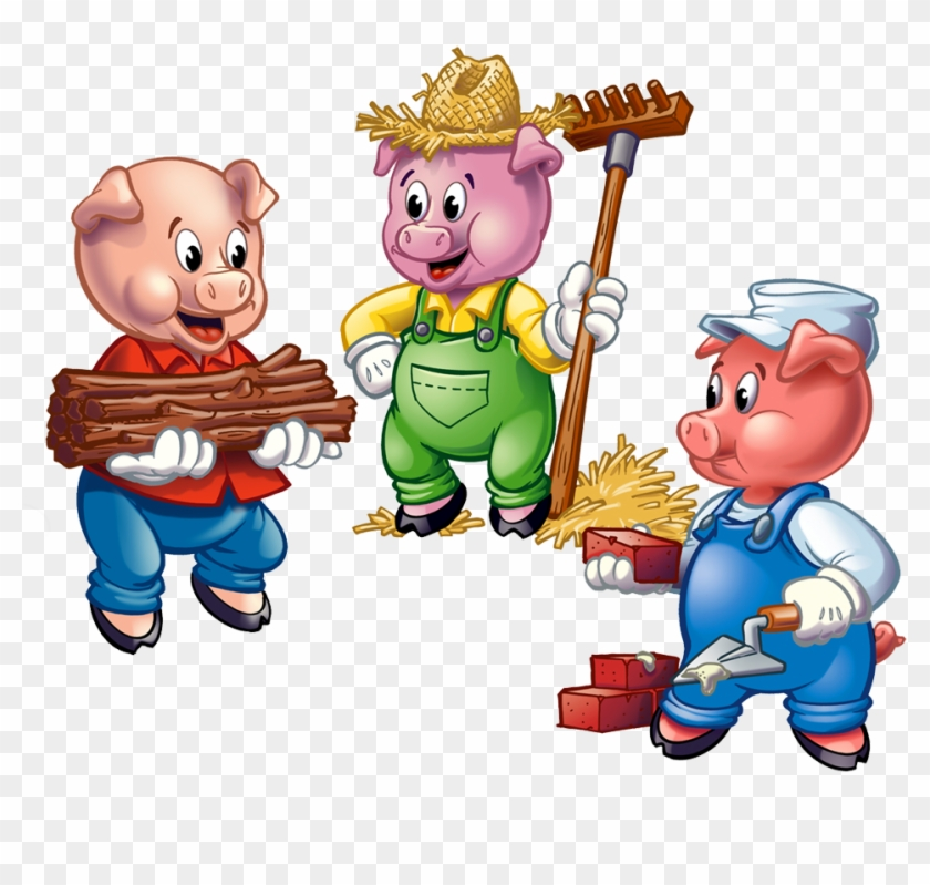 The Three Little Pigs - Three Little Pigs Clipart #12230