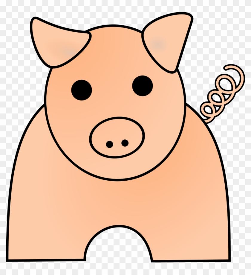 Pig Large 900pixel Clipart, Pig Design - Pig Clip Art #12271