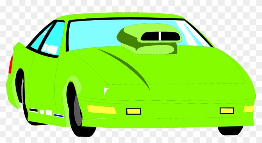 Car - Green Racecar Clipart #12291