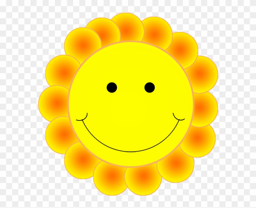 Smiley Face Clipart - Smiley Face Flower Clipart #12295