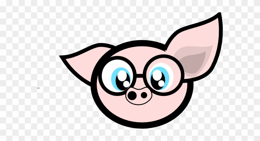 Pig With Glasses Clip Art - Animated Pig With Glasses #12299