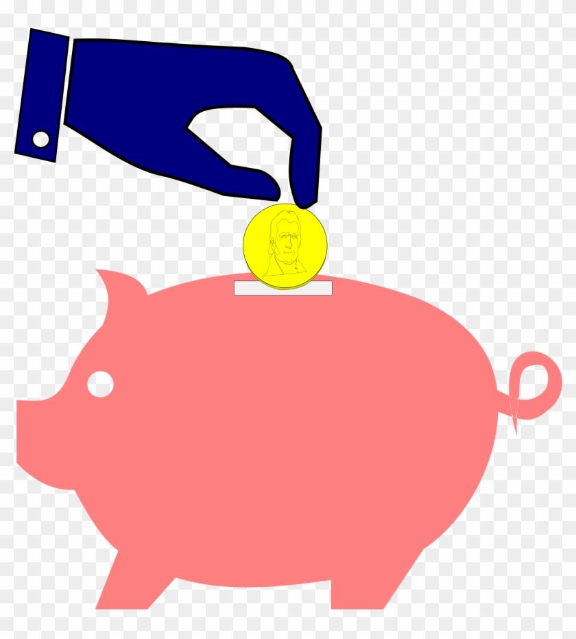 Bank Clipart Microsoft Clip Art Of 3 Clipartwork - Free Piggy Bank Clipart #12306
