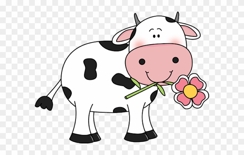 cow with a flower in its mouth udderly adorable cute cow clipart rh clipartmax com cute cow face clipart cute baby cow clipart