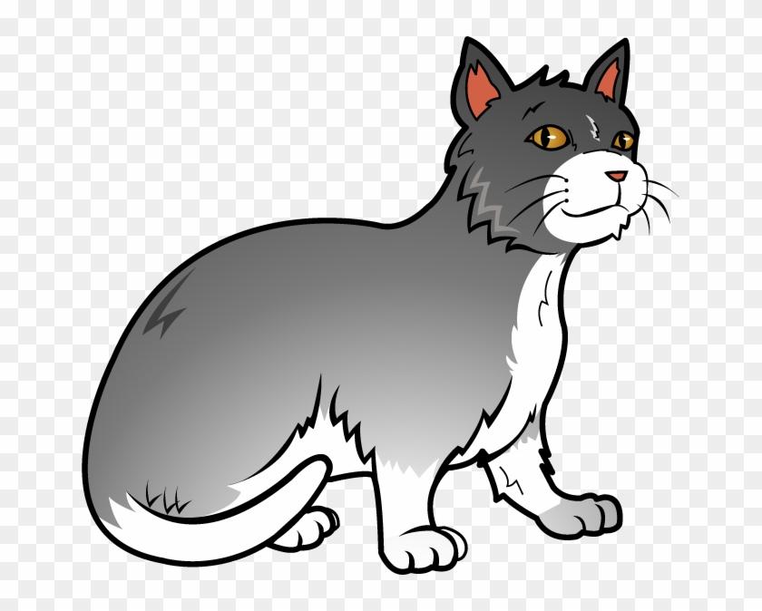 Free Art Clip Of Cat Clipart Image - Grey Cat Clip Art #12320