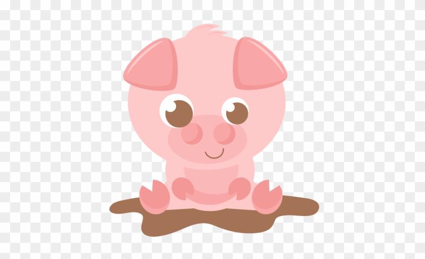 Cute Baby Pig Clipart - Cute Pig Clipart #12321