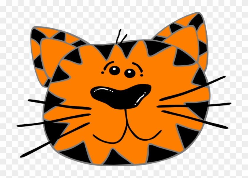 Cat Face Clip Art At Clker - Cat Face Clip Art #12362