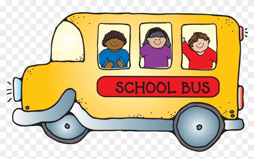 School Bus With Children Png Clipart - School Supplies Clipart #12380