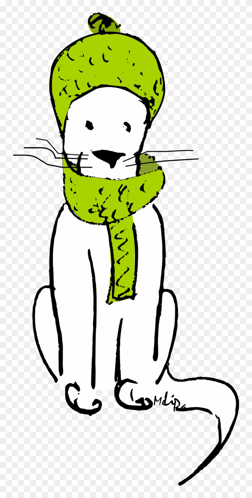 Winter Cat Clipart - Winter Cat Clipart #12376