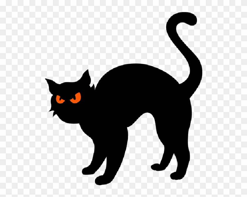 Black Cat Clip Art - Halloween Black Cat Clipart #12383