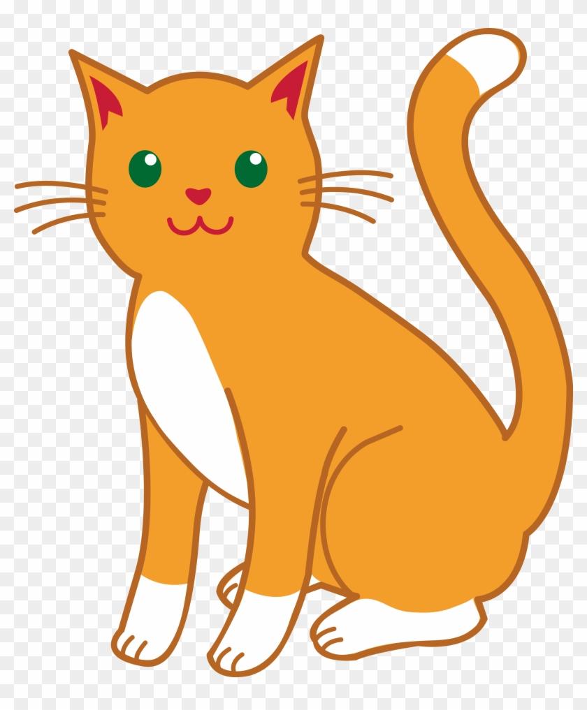 Clipart Cat Cartoon Cats Free Download Clip Art On - Orange Cat Clip Art #12410