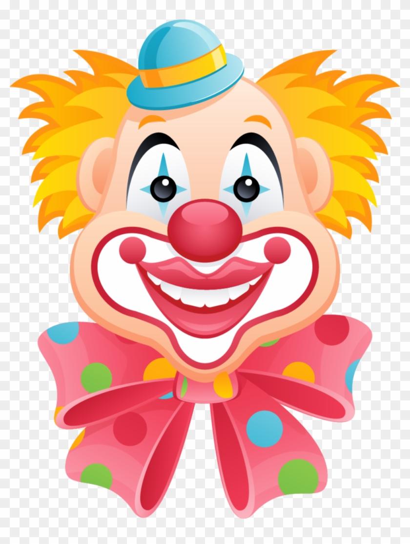 Patterns - Happy Clown Faces Clip Art #12437