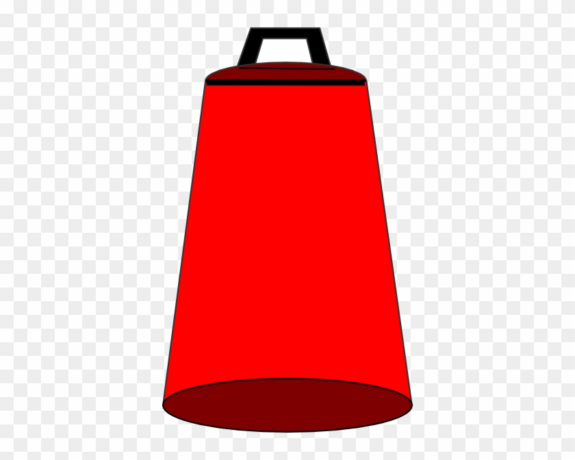 Red Cow Bell Clip Art - Cowbell Clipart #12440