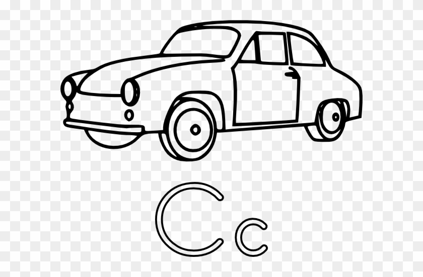 C Is For Car Clip Art - Colouring Page Of A Car #12442